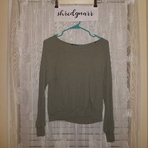 Forever 21 Olive Green Crop Sweater